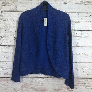Express NWT Blue Open Cardigan Top